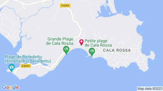 Grand Hôtel de Cala Rossa Map