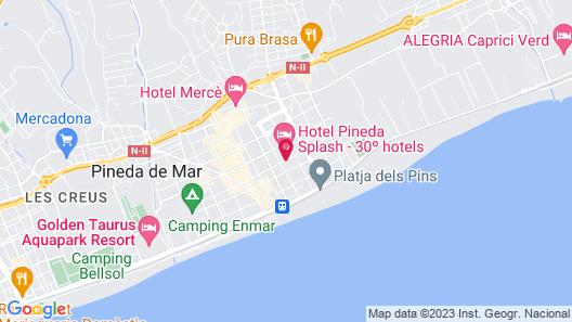 30 Degrees - Hotel Pineda Splash Map