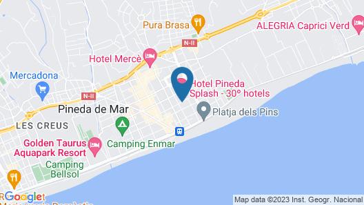 Hotel Pineda Splash Map