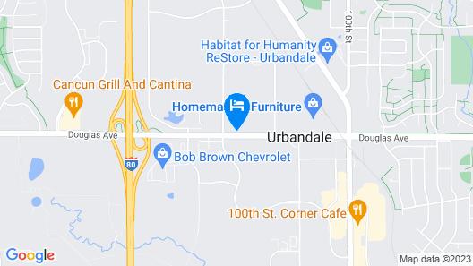 Econo Lodge Urbandale-Northwest Des Moines Map