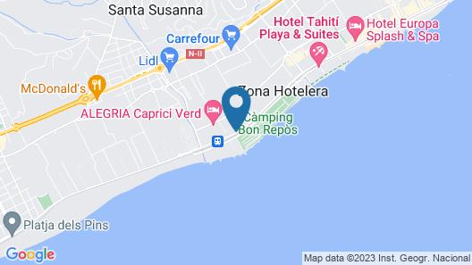 ALEGRIA Mar Mediterrania - Adults Only Map