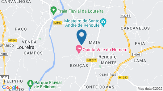 Quinta de Ataide Rural Tourism With Swimming Pool for Holidays Map