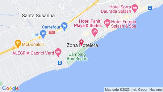 AQUA Hotel Aquamarina & Spa Map