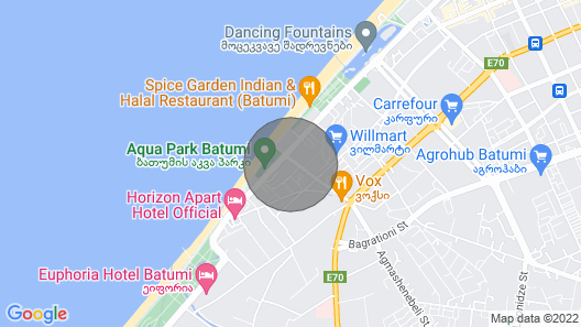 lux Apartmens in the Residence Map