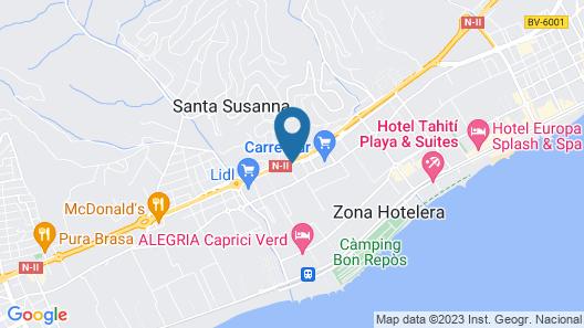 Santa Susana Resort - All Inclusive Map