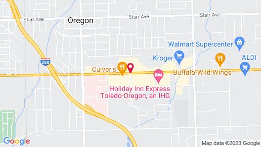 Hampton Inn Toledo/Oregon, OH Map
