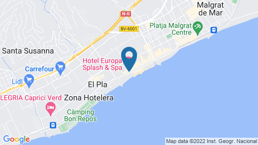 Hotel Europa Splash Map