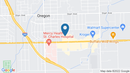 TownePlace Suites Toledo Oregon Map