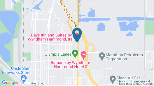 Days Inn and Suites by Wyndham Hammond, IN Map