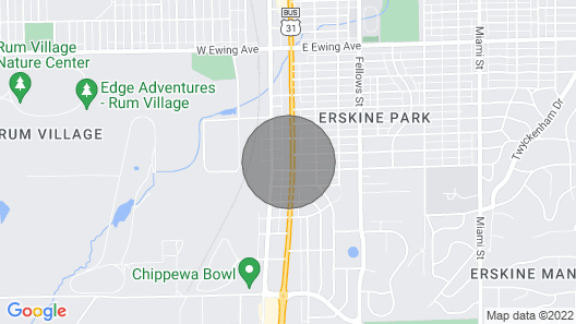 South Bend Home Near ND, Shopping Map