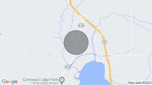 Conneaut Lake Home w/ Fire Pit ~½ Mi to Beach/Park Map