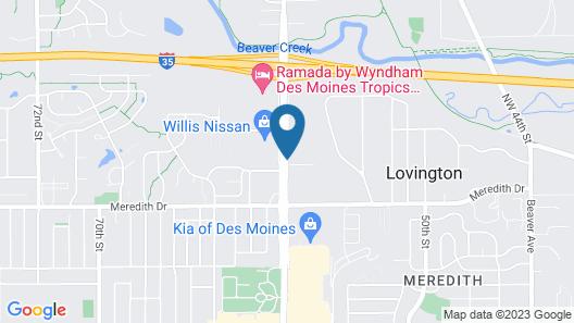 Econo Lodge Inn & Suites - Des Moines/Merle Hays Road Map