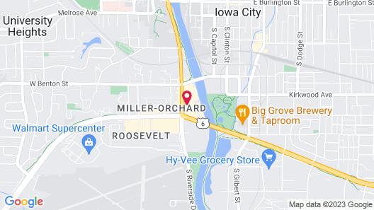 Hampton Inn Iowa City/University Area Map