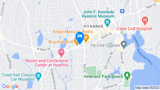 Hyannis Plaza Hotel Map