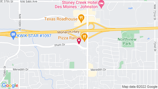 Holiday Inn Express and Suites Urbandale, an IHG Hotel Map