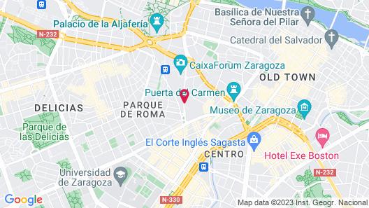 Hotel Cesaraugusta Map