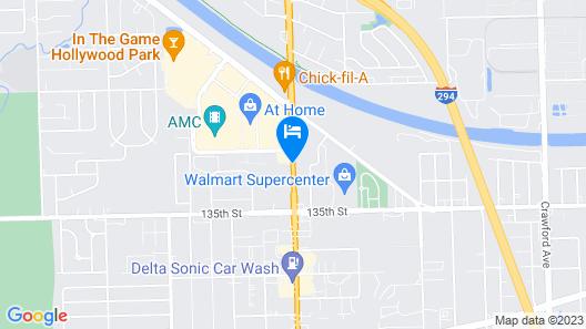 Holiday Inn Express Crestwood Map