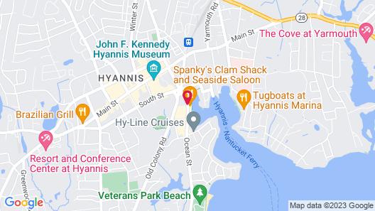 Ocean Street Inn on Hyannis Harbor Map