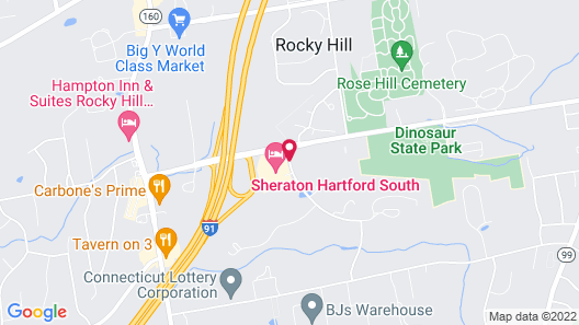 Sheraton Hartford South Hotel Map