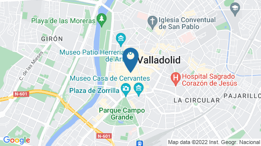 Apartment With 2 Bedrooms in Valladolid, With Balcony and Wifi Map