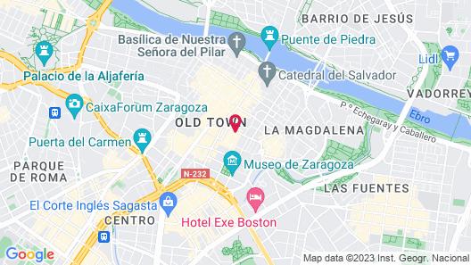 Hotel Silken Reino de Aragón Map