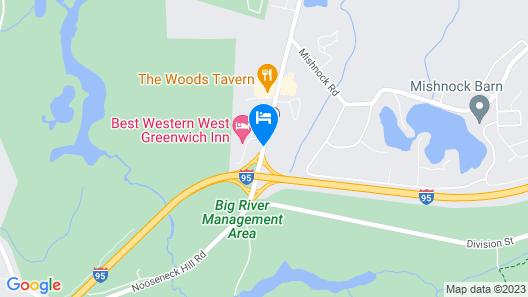 Best Western West Greenwich Inn Map