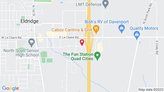 Quality Inn & Suites Eldridge Davenport North Map