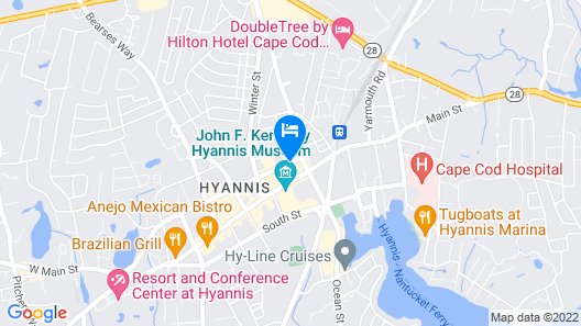 Hyannis Travel Inn Map