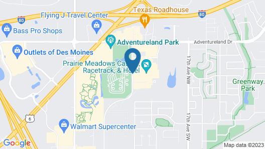 Prairie Meadows Casino, Racetrack & Hotel Map