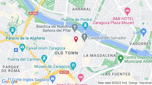 Apartamentos Sabinas Zaragoza Centro Map