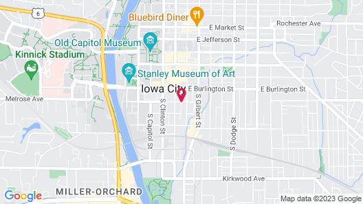 Hyatt Place Iowa City Downtown Map