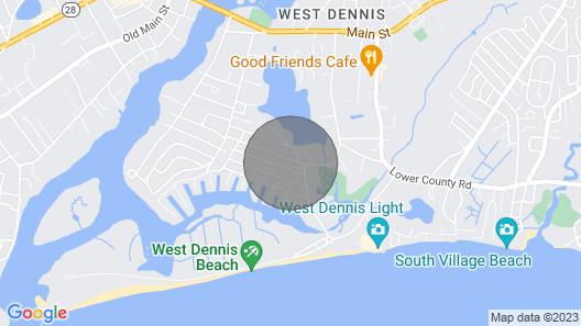 Adorable Cape House Close to Beach Map