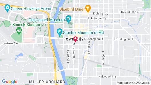 Hilton Garden Inn Iowa City Downtown University Map