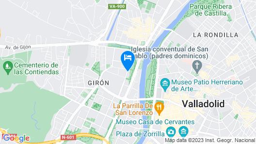 NH Ciudad de Valladolid Map