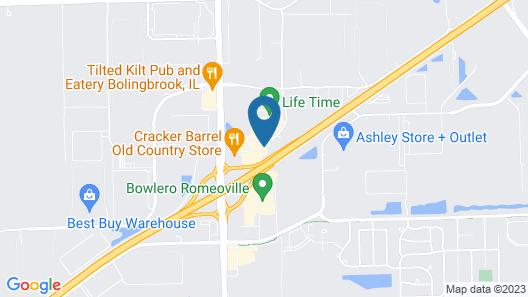 Comfort Inn Romeoville - Bolingbrook Map