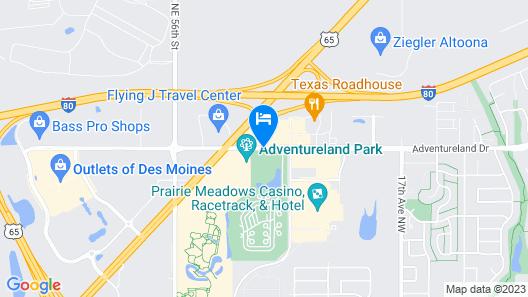 Adventureland Inn Map