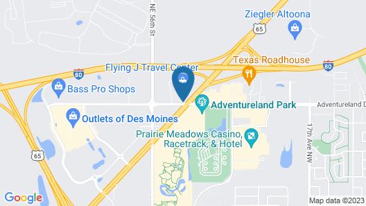 Motel 6 Altoona, IA - Des Moines East Map