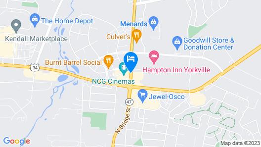 Super 8 by Wyndham Yorkville Map