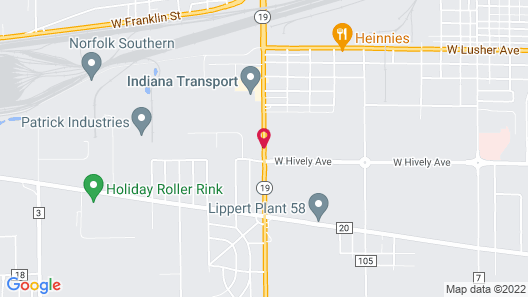 Holiday Inn Express & Suites Elkhart Map