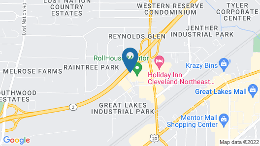 Super 8 by Wyndham Mentor/Cleveland Area Map