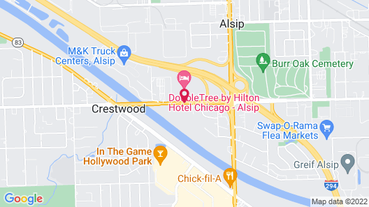 DoubleTree by Hilton Chicago - Alsip Map