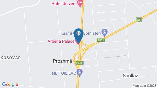 Arberia Palace Hotel Map