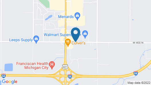 Microtel Inn & Suites by Wyndham Michigan City Map