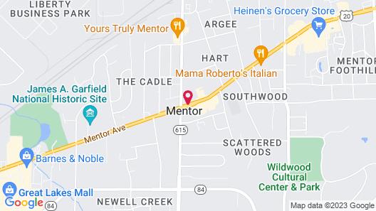 Best Western Plus Lawnfield Inn & Suites Map