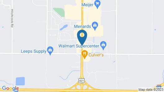 Super 8 by Wyndham Michigan City Map