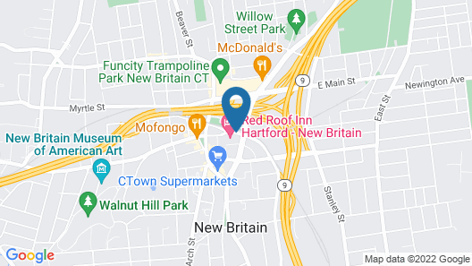 Red Roof Inn Hartford - New Britain Map