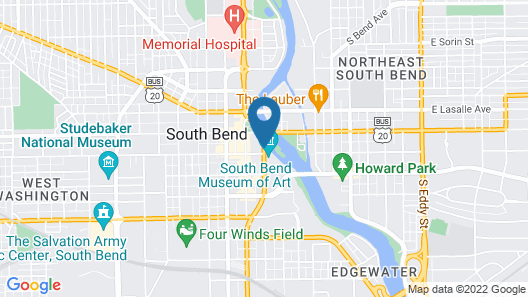 Doubletree Hotel South Bend Map