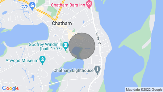 Waterfront Chatham Village, Short Walk to Town & Lighthouse Beach Map