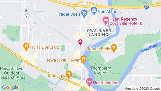Super 8 by Wyndham Iowa City/Coralville Map