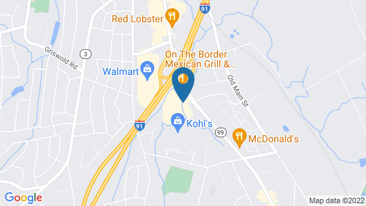 Holiday Inn Express Hartford South - Rocky Hill, an IHG Hotel Map